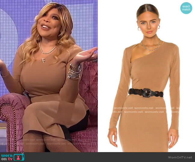 Cut Shoulder Sweater and Skirt by Victor Glemaud worn by Wendy Williams  on The Wendy Williams Show