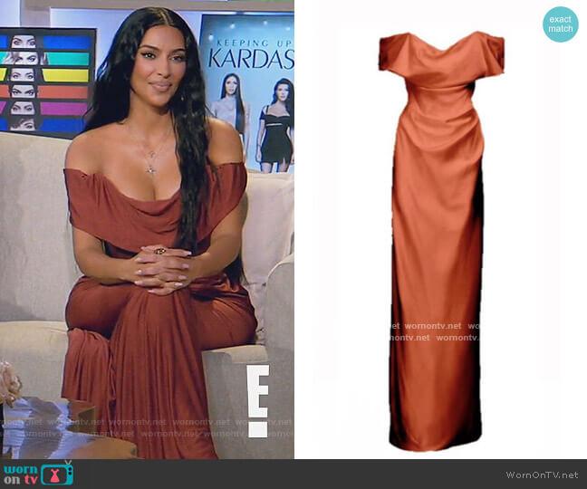 Cocoette Dress by Vivienne Westwood worn by Kim Kardashian  on Keeping Up with the Kardashians