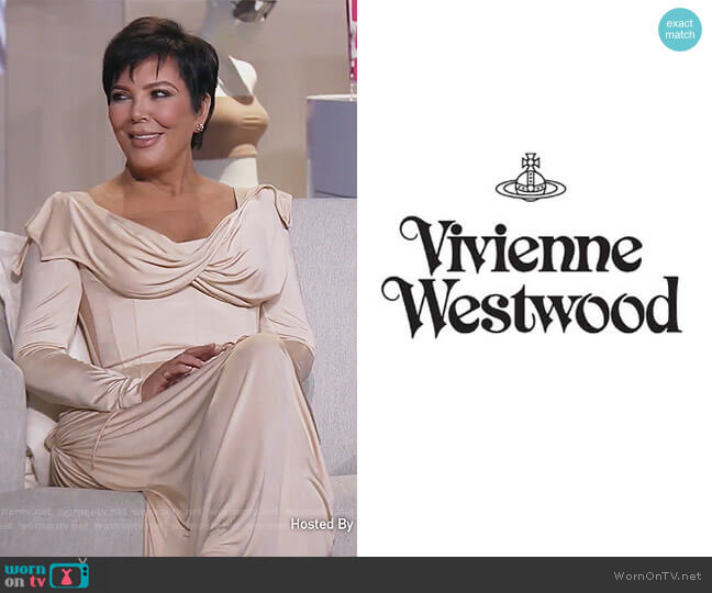 Custom Dress by Vivien Westwood worn by Kris Jenner  on Keeping Up with the Kardashians