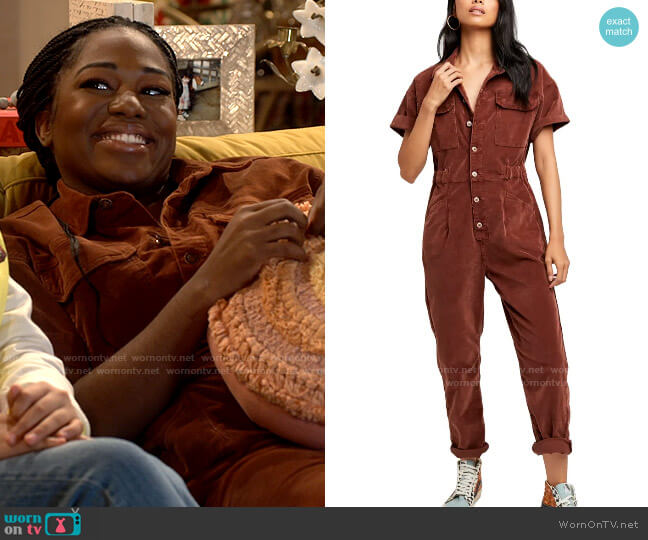 Free People Marci Coveralls worn by Harper (Laci Mosley) on iCarly