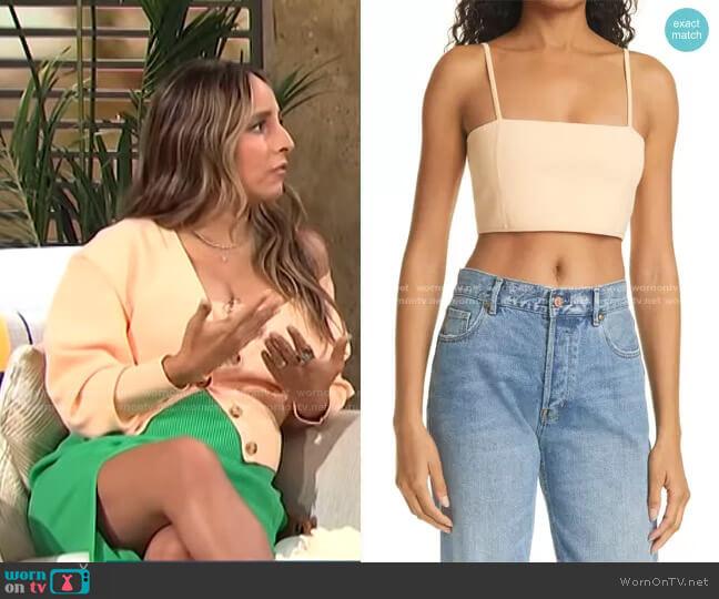 Winnie Crop Knit Camisole by A.L.C. worn by Lilliana Vazquez  on E! News