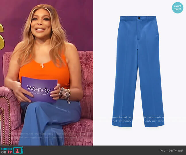 Wide Leg Pants by Zara worn by Wendy Williams  on The Wendy Williams Show