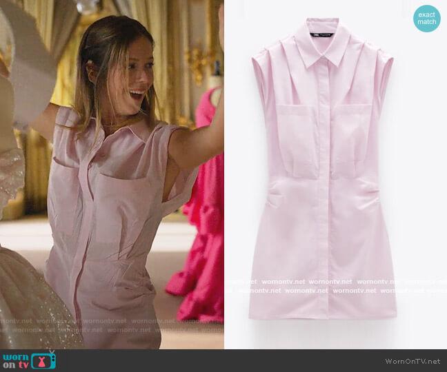 Poplin Dress by Zara worn by Cayetana Grajera Pando (Georgina Amoros) on Elite