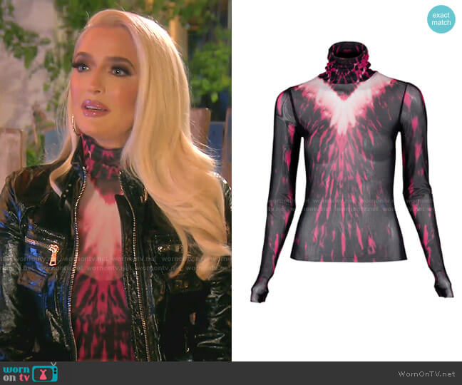 Zadie Semi Sheer Turtleneck by AFRM worn by Erika Jayne  on The Real Housewives of Beverly Hills