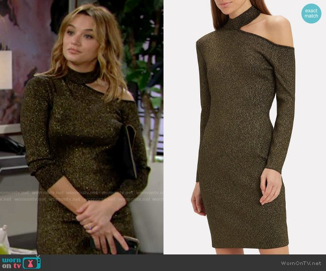 ALC Tess Dress worn by Summer Newman (Hunter King) on The Young & the Restless