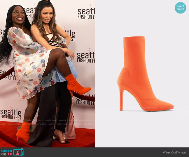 Aldo Delylah Bootie worn by Harper (Laci Mosley) on iCarly