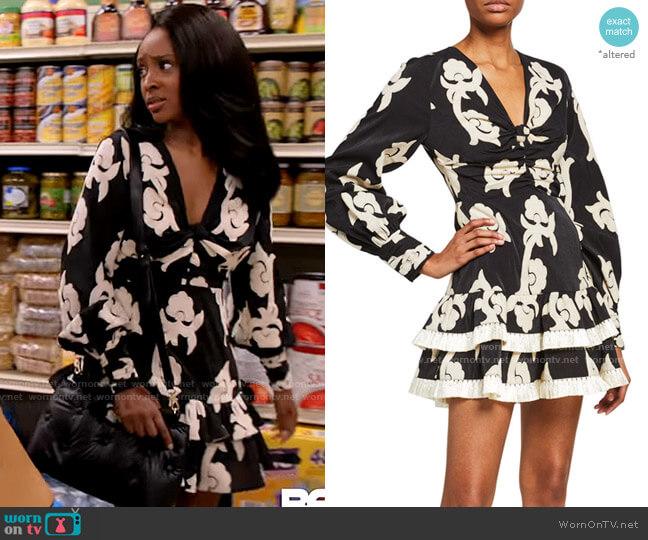 Alexis Rimini Dress worn by Karen Mott (Ebony Obsidian) on Tyler Perrys Sistas
