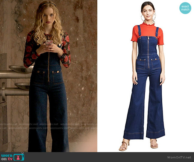 Alice McCall Quincy Overalls worn by Lily (Olivia Rose Keegan) on High School Musical The Musical The Series
