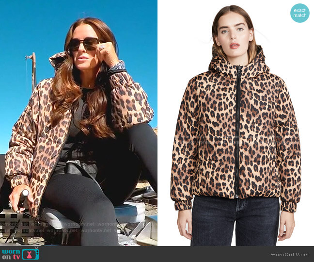 Durham PR Reversible Hooded Puffer Coat by Alice + Olivia worn by Kyle Richards  on The Real Housewives of Beverly Hills