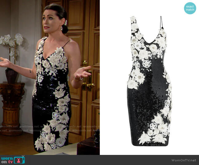 Alice + Olivia Francie Dress worn by Quinn Fuller (Rena Sofer) on The Bold & the Beautiful