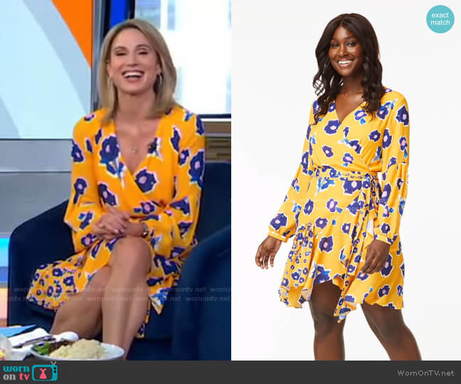 The Megan Dress by Alivia worn by Amy Robach  on Good Morning America