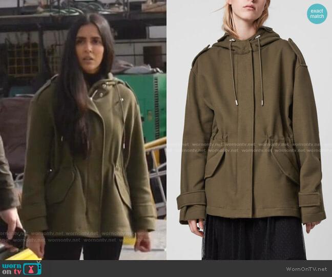 Kelsie Jacket by All Saints worn by Saanvi (Parveen Kaur) on Manifest