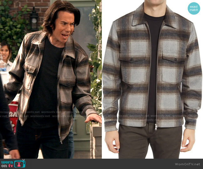 All Saints Vonroe Plaid Shirt worn by Spencer Shay (Jerry Trainor) on iCarly