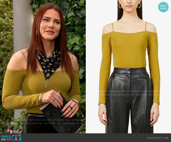 All Saints Audery Bodysuit worn by Sally Spectra (Courtney Hope) on The Young & the Restless