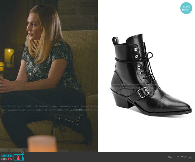 Katy Boots by All Saints worn by Joy Harper (Katherine Barrell) on Good Witch