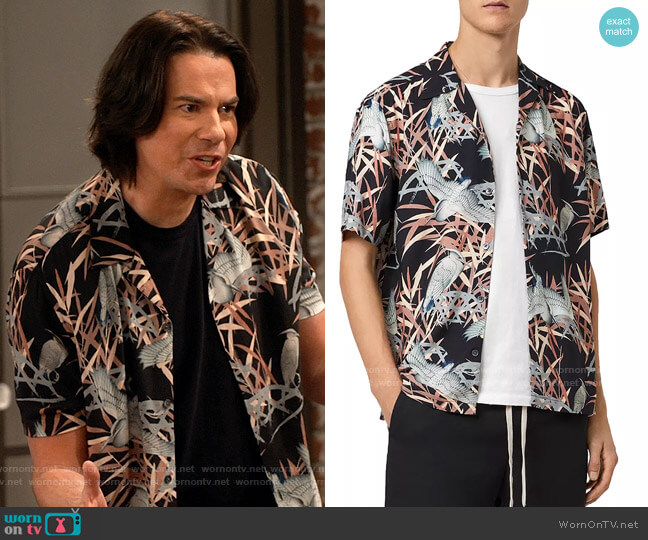All Saints Siber Shirt worn by Spencer Shay (Jerry Trainor) on iCarly