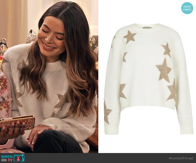 All Saints Metallic Star Alpaca & Wool Blend Sweater worn by Carly Shay (Miranda Cosgrove) on iCarly