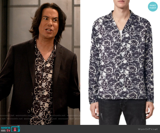 All Saints Tiergarten Shirt worn by Spencer Shay (Jerry Trainor) on iCarly