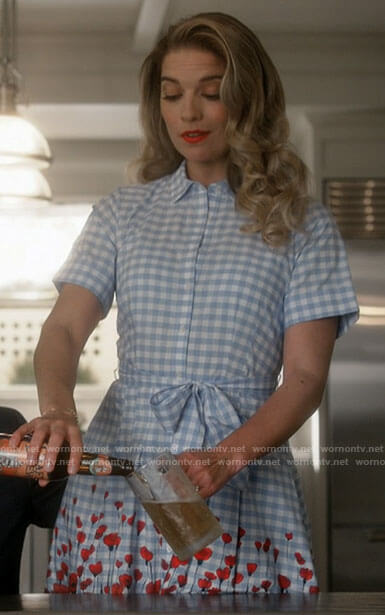Allison's gingham and floral shirtdress on Kevin Can F**k Himself