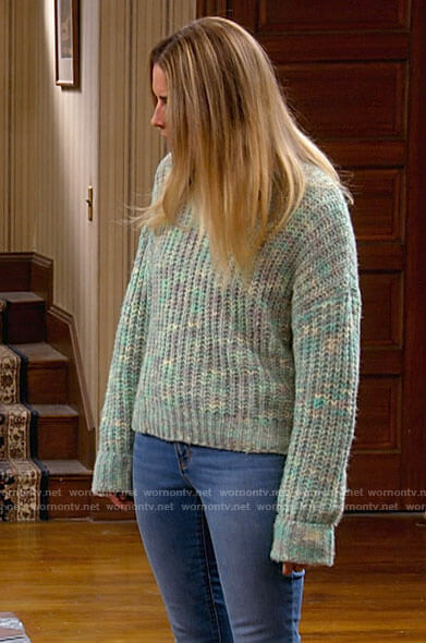 Allison's green marled sweater on Kevin Can F**k Himself