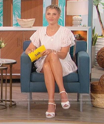 Amanda's white lace dress on The Bachelorette