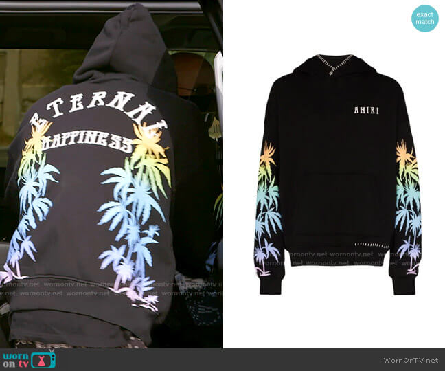 Amiri Eternal Happiness Hoodie worn by Brody Jenner  on The Hills New Beginnings