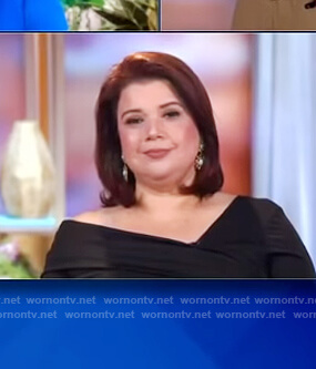 Ana's black off shoulder top on The View