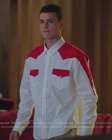 Mencia's two-tone leopard shirt on Elite