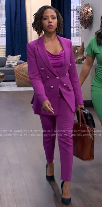 Andi's pink suit on Tyler Perrys Sistas