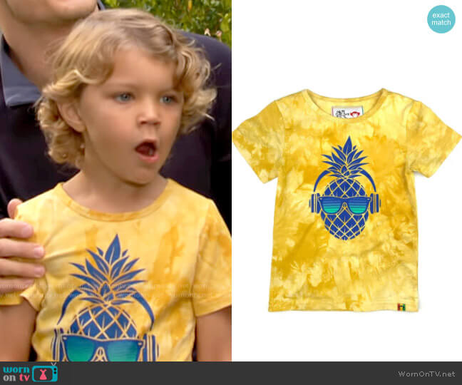 Appaman x Ziggy Marley Pineapple Tie Dye Graphic Tee worn by Harrison Locke on The Young and the Restless