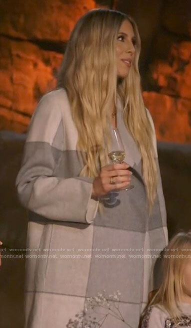 Ashley's grey checked coat on The Hills New Beginnings