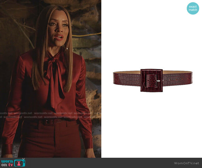 High-Rise Flared Trousers by Chloe worn by Dominique Deveraux (Michael Michele) on Dynasty