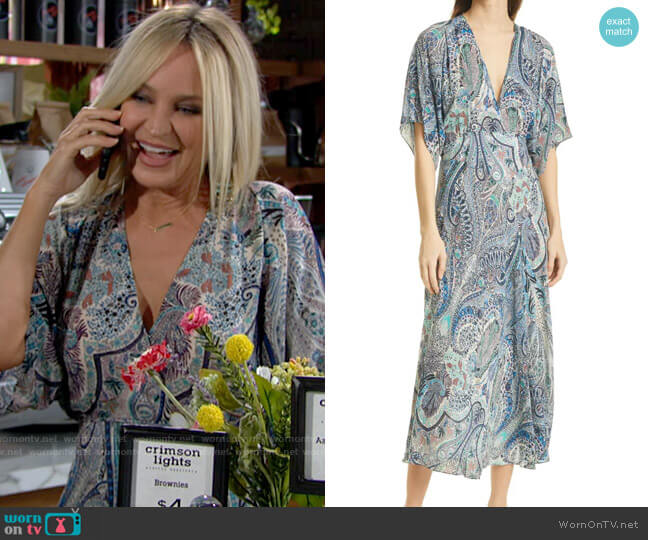ba&sh Bee Dress worn by Sharon Collins (Sharon Case) on The Young & the Restless