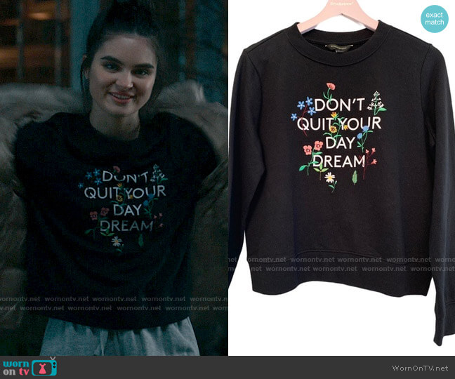 Banana Republic Don't Quit Your Day Dream Sweatshirt worn by Bella Whitmore (Landry Bender) on The Republic of Sarah