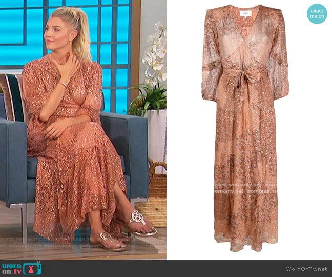 Oriane Dainty-print Wrap Dress by Ba&sh worn by Amanda Kloots  on The Talk