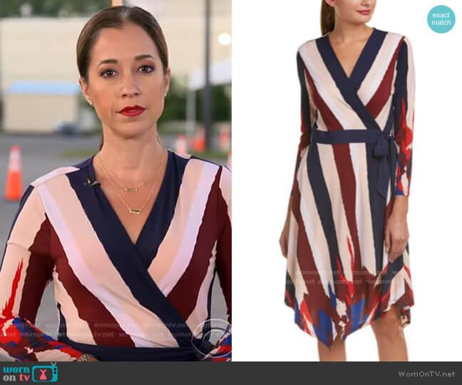 Bcbgmaxazria Isabella Stripe Dress worn by Mireya Villarreal  on CBS This Morning