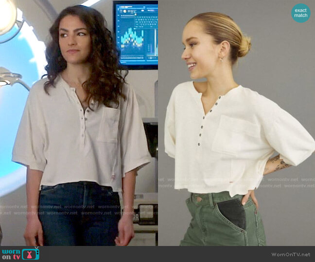 BDG at Urban Outfitters Off Step Slouchy Top worn by Allegra Garcia (Kayla Compton) on The Flash