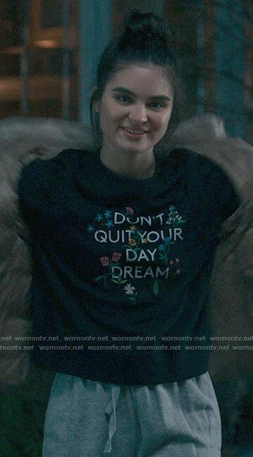 Sarah's blue sheep sweater on The Republic of Sarah