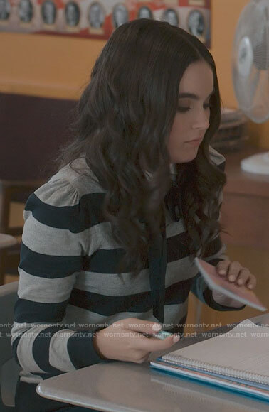 Bella's striped sweater on The Republic of Sarah