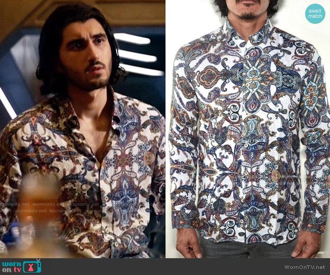 Bia Boro Linen Shirt in Persi Paisley worn by Behrad Tarazi (Shayan Sobhian) on Legends of Tomorrow