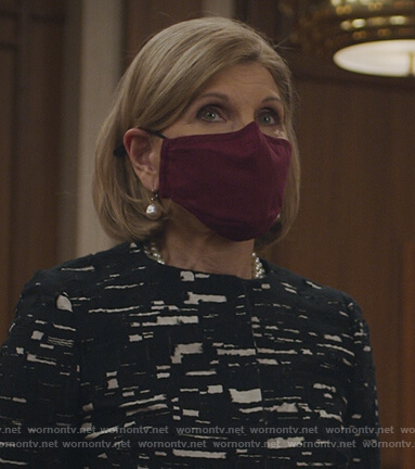 Bianca's sequin chainmail dress on The Good Fight