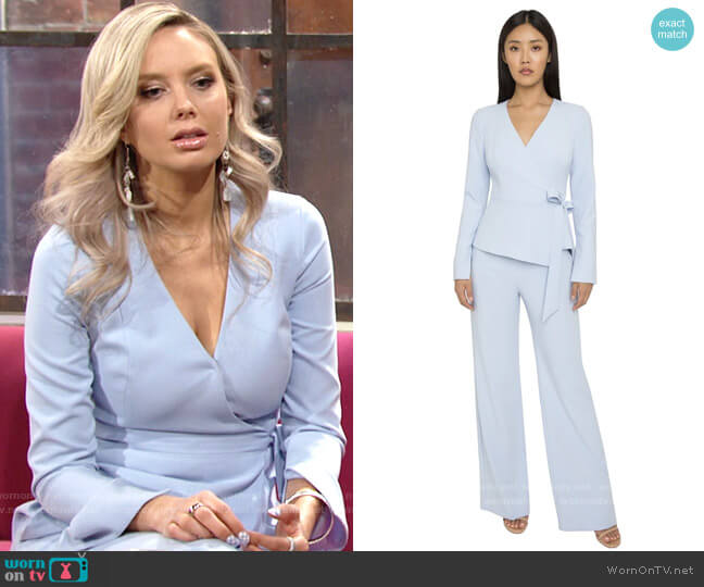 Black Halo Maliblue Apollo Jumpsuit worn by Abby Newman (Melissa Ordway) on The Young & the Restless