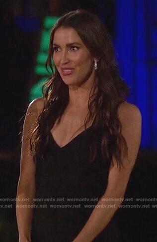 Kaitlyn Bristowe's black sleeveless bandage dress on The Bachelorette