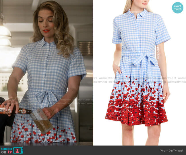 Brooks Brothers Floral Shirtdress worn by Allison (Annie Murphy) on Kevin Can F**k Himself