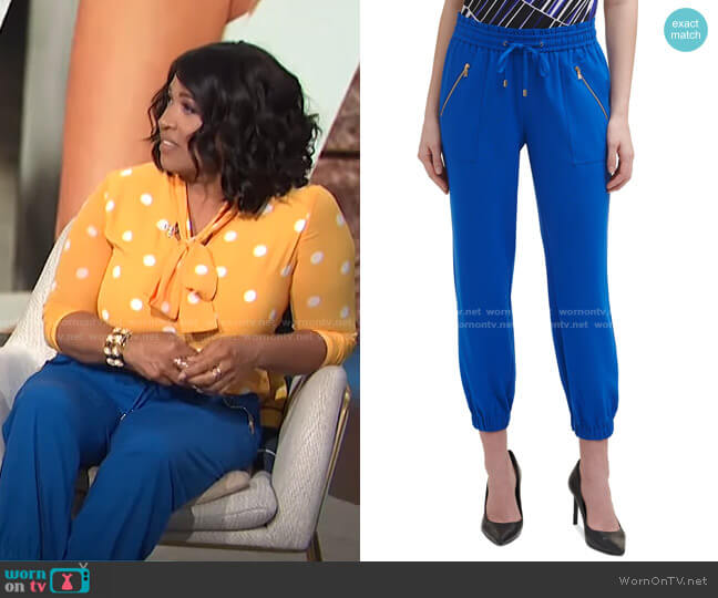 Drawstring Jogger Pants by Calvin Klein worn by Kym Whitley  on E! News