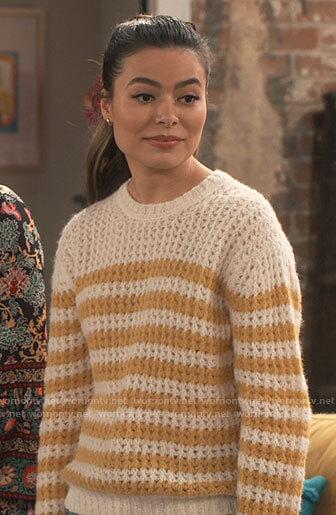 Harper's long kimono and orange top on iCarly