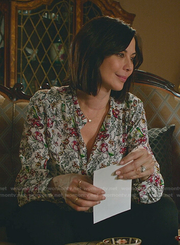 Cassie's white floral blouse on Good Witch
