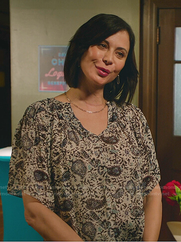 Cassie's paisley print top on Good Witch