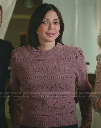 Abigail's tweed zip jacket on Good Witch