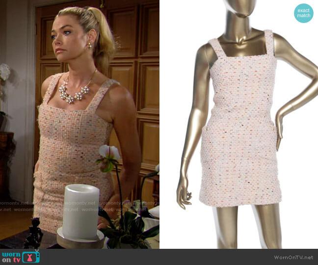 Chanel Tweed Mini Dress worn by Shauna Fulton (Denise Richards) on The Bold & the Beautiful
